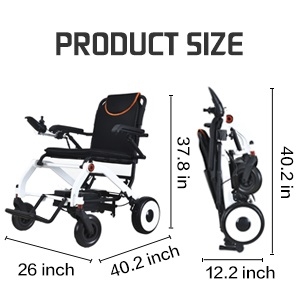 Electric wheelchair size