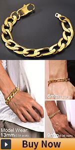 figaro gold bracelet for men