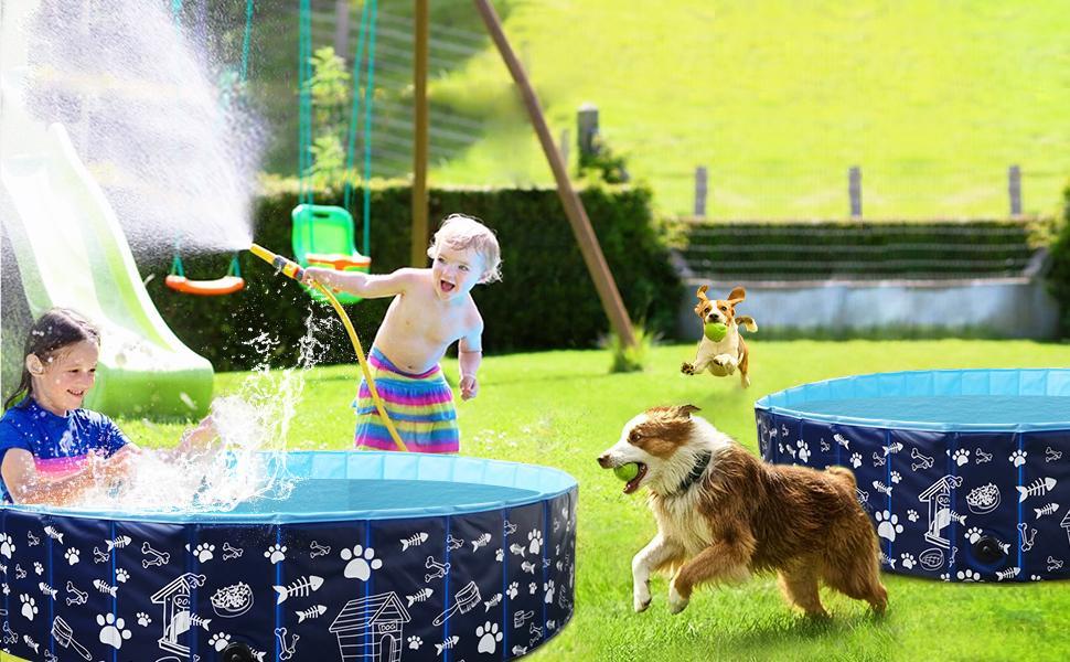 foldable kiddie pool, dog pool