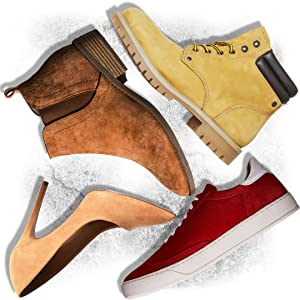 chaussures daim, suede, nubuck et velours