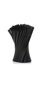 black drinking straw
