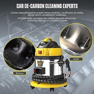 AUTOOL HTS558 Automotive Engine Intake Pipe Valve Clean Machine Valvetronic System Walnut Powder Sa