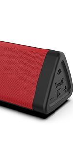 OontZ Angle 3 Bluetooth Portable Speaker - Red