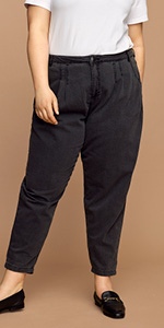 SAGA Zizzi jeans schwarze slim fit jeans slim fit jeans große größen jeans damen große größen