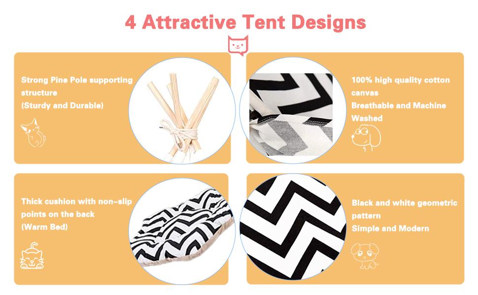dog teepee tents