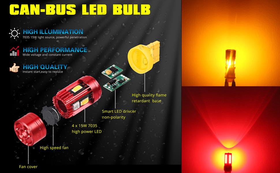 T20-7440-7443-7444-LED-turn-signal-light-can-bus-resistor-error-free-7444NAK-7443NA