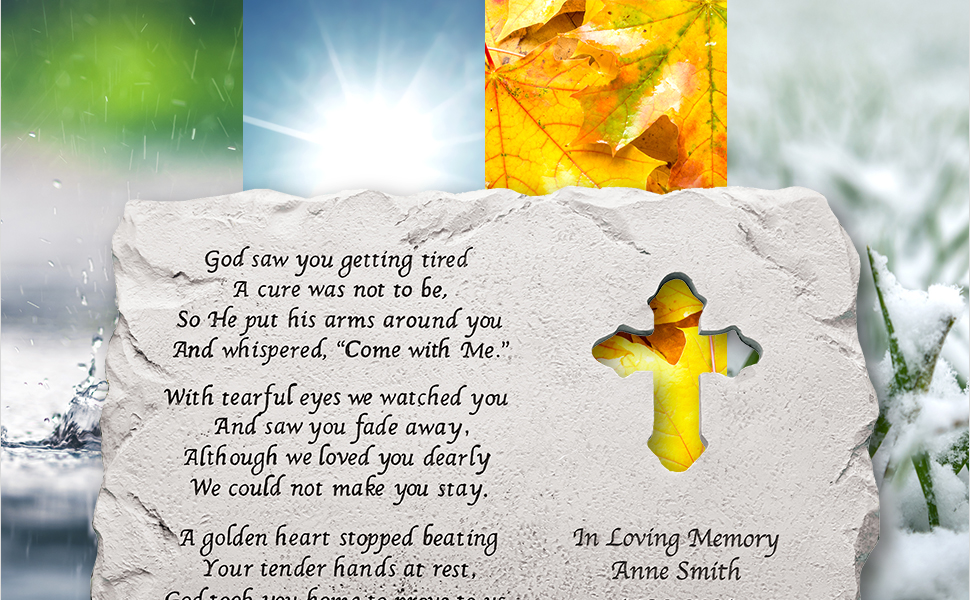Personalized Cross Memorial Stone For a Lost Loved One