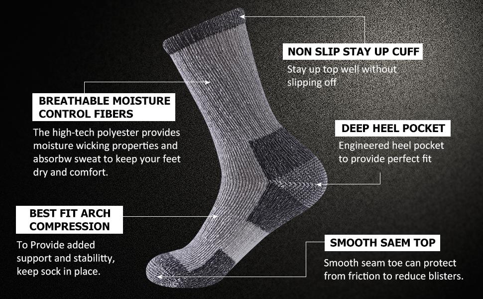 cushioned hiking socks,hiking crew socks