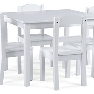 kids wood table and 4 chairs set children furniture playroom