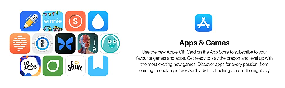 New Apple Gift Card, App Store, subscribe, favourite games and apps