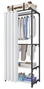 Porte-vêtements à 4 niveaux noir