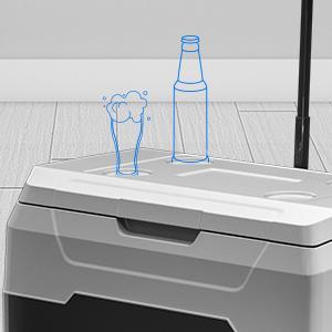 52 Quart Portable Car Freezer with Telescopic Handle