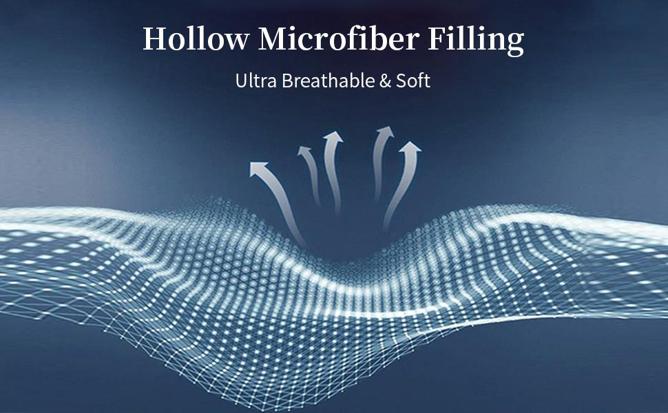 hollow microfiber filing