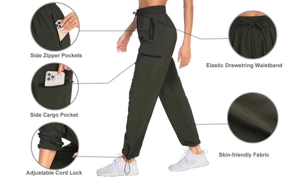 Mokermi Women's Cargo Hiking Pants