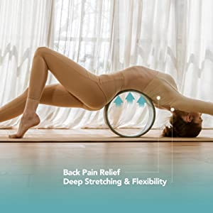 yoga wheel with spinal canal