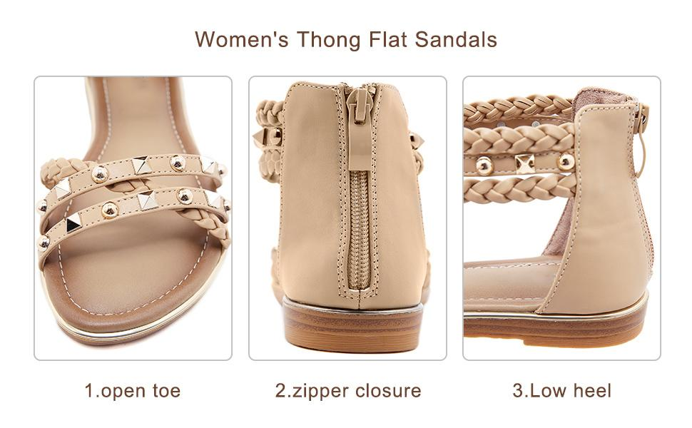 women Sandals with Zipper