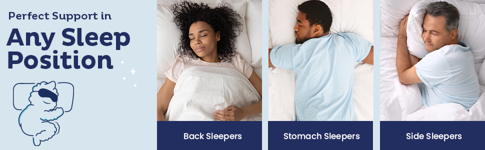 Perfect Support in Any Sleep Position