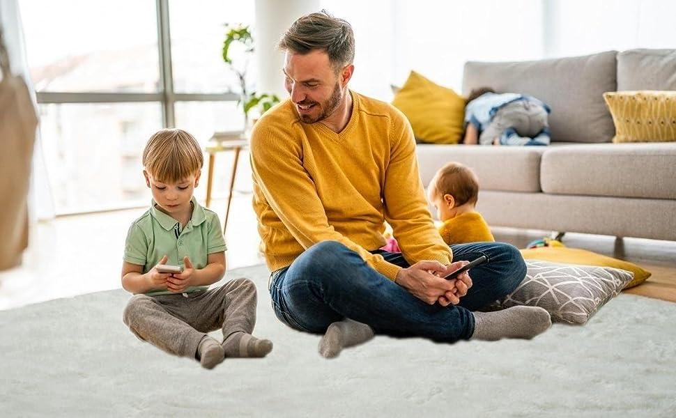fluffy soft plush Shag rug for living room fuzzy furry area rug for kids room nursery comfy cozy