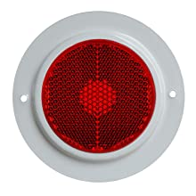 Reflex Reflector Red with Silver Outer