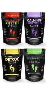 Foot Soak Salts Variety Set