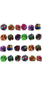 SunGrow Mylar Balls for Cats, 24 Pcs Multicolor