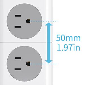 50mm wide-spaced socket
