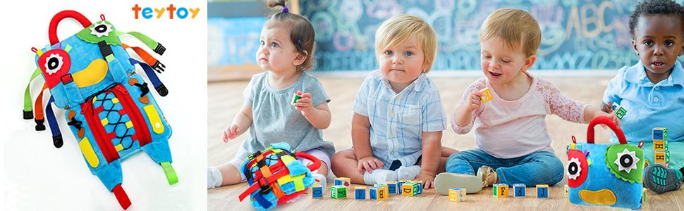 Sensory Buckle activity toy for toddlers 1-3 provided many hours of entertainment for your child.
