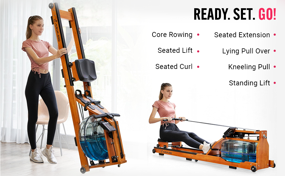 Household Folding Water Rowing Machine with LCD Monitor, SPN-SELR