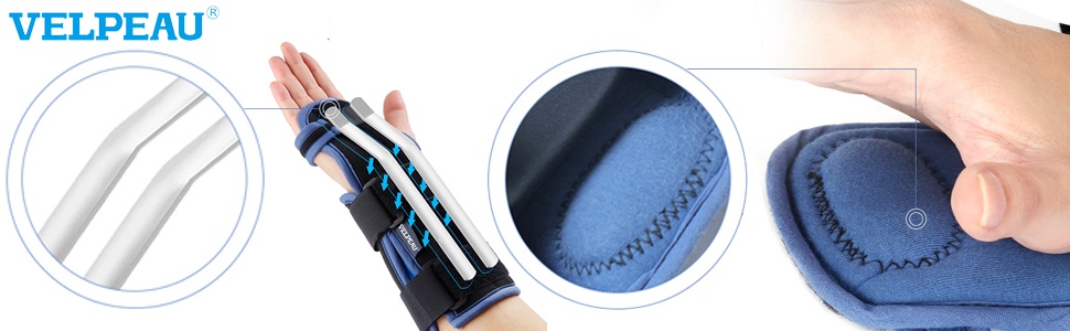 Removable aluminium alloy palm rest and soft and comfortable palm pad