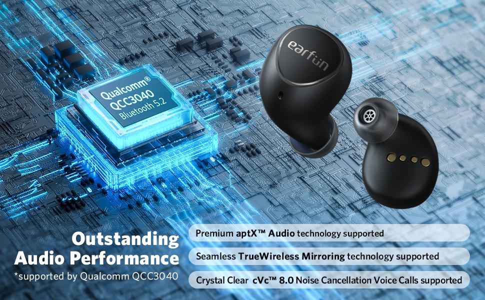 Qualcomm QCC3040 Bluetooth 5.2 Earbuds