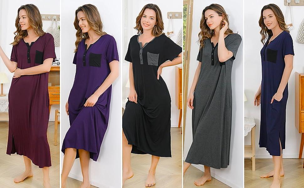 Women's Nightgowns V Neck Loungewear