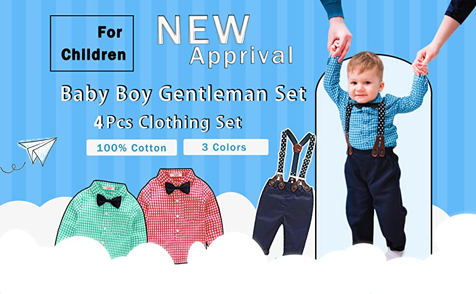 Sumemr baby boy outfit set
