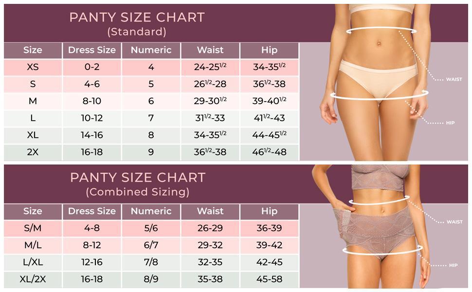 panties size chart