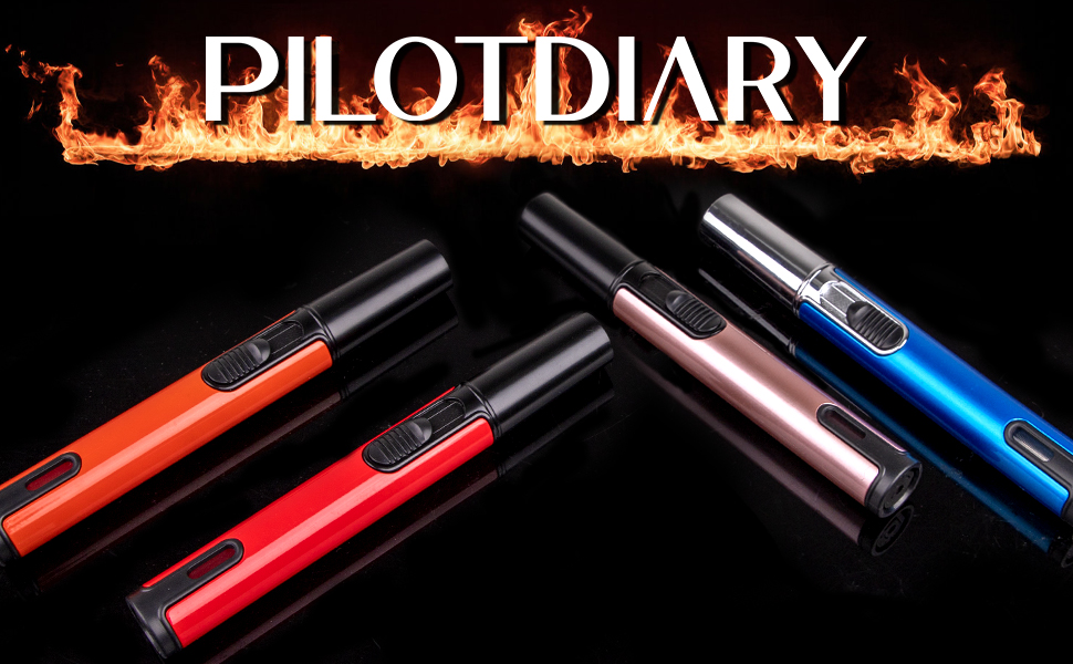 PILOTDIARY Adjustable Pen Torch Windproof Jet Flame
