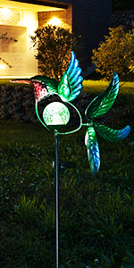 hummingbird solar wind spinners