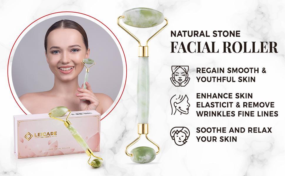 jade Roller skin tightening anti aging face massage eye puffiness lift firming