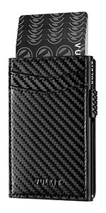 VULKIT side slide leather credit card holder