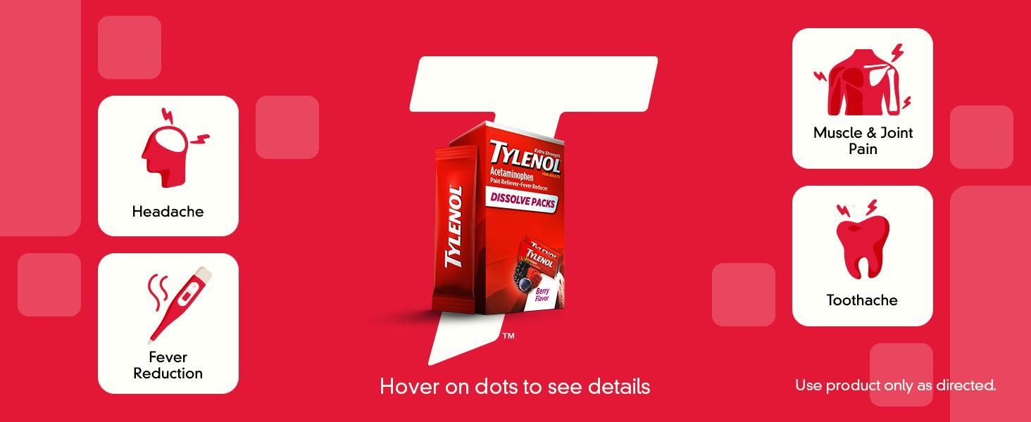 Tylenol Dissolve Packs Product Packaging