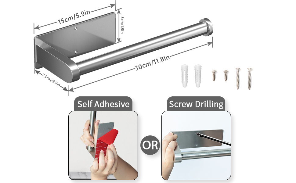 adhesive and drilling, two ways of installation