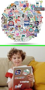 ViKiVi Science Stickers 100 Pcs