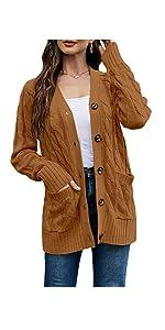 yellew brown sweater coat