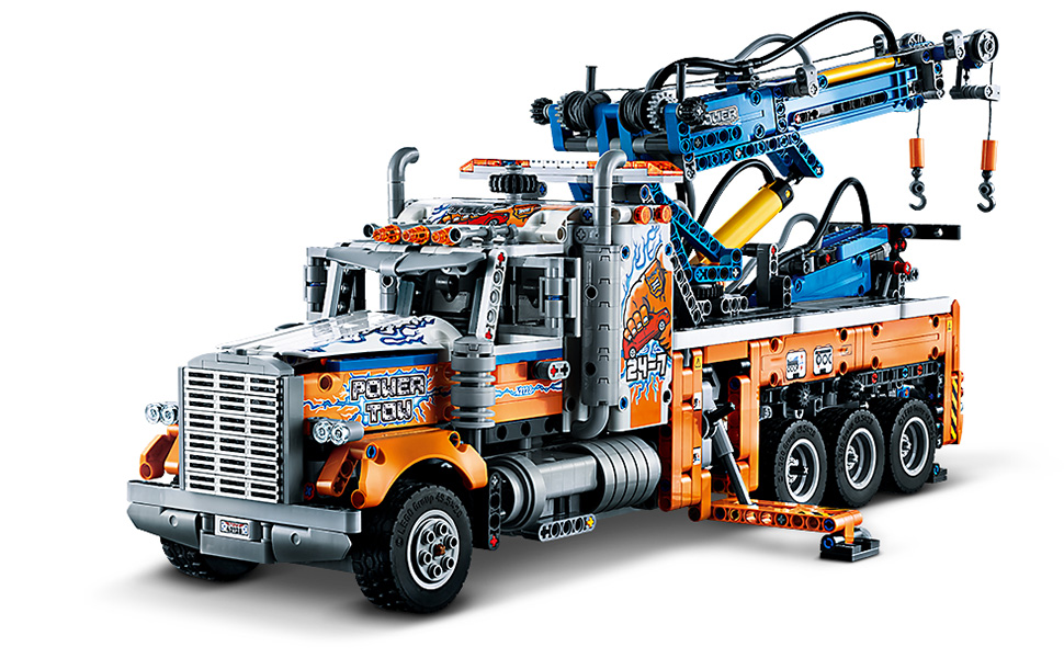 Lego Heavy Duty Tow Truck - Built set, Full view