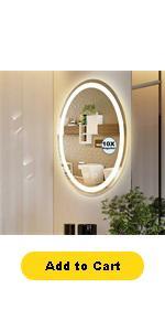 oval bathroom mirror with lights