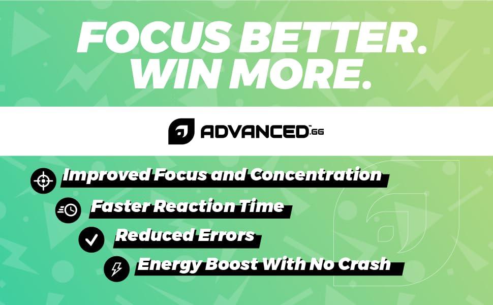 Focus, energy, advancedgg, advanced, concentration