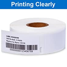 compatible with DYMO 30336 labels printing clearly