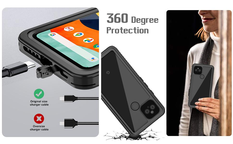 Functional phone case for google pixel 4a 5g