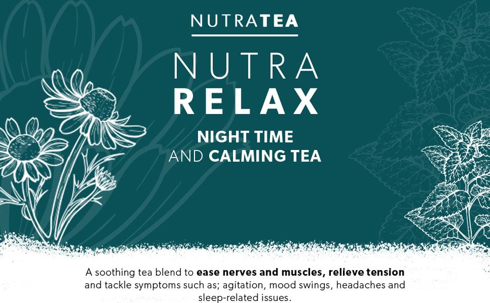 NutraRelax Herbal Remedy Tea - Sleep Tea amp; Anxiety Tea