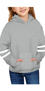 Girls Grey Sweatshirts Hoodie Tops Girls Hoodies Cute Plaid Long Sleeve Fashion Sweatshirts