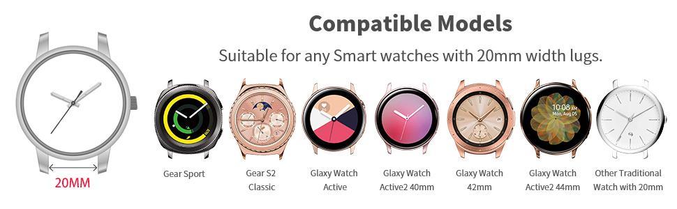 samsung galaxy active 2 watch 3 band 40mm 44mm smart watch bands 20mm