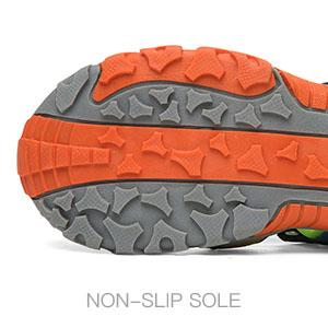 Traction outsole beach shoes
